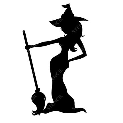 432x432 Maleficent Witch Stencil Cool Stickers Wall Decals