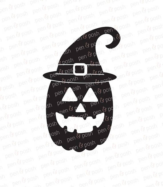 570x653 Witch Pumpkin Svg