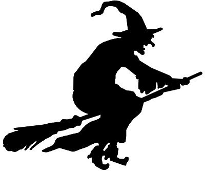 400x333 Vinyl Witch On Broom Halloween Witches, Halloween