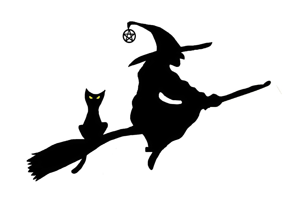 1000x750 Witch On A Broom Silhouette By Imphavok Redbubble