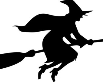 340x270 Witch On A Broom Etsy