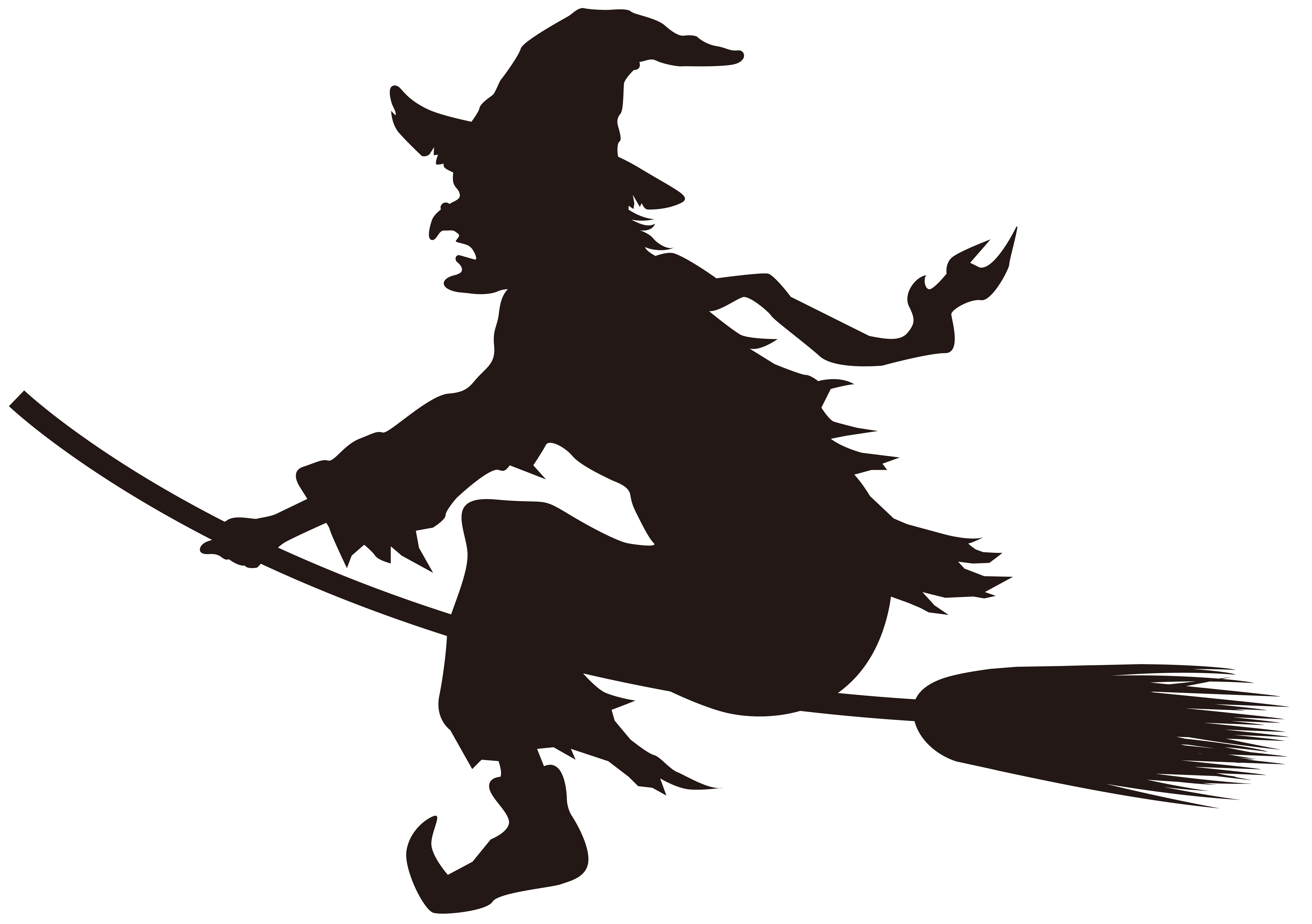 8000x5637 Halloween Witch On Broom Silhouette Png Clip Art Imageu200b Gallery
