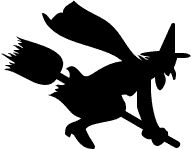 191x149 Silhouette Of A Witch On A Broom Scary Witch, Scary And Witches