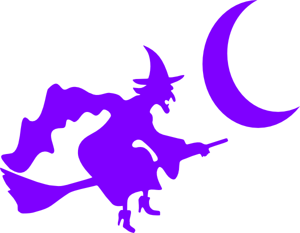 600x466 Witch On Broom Silhouette Clip Art