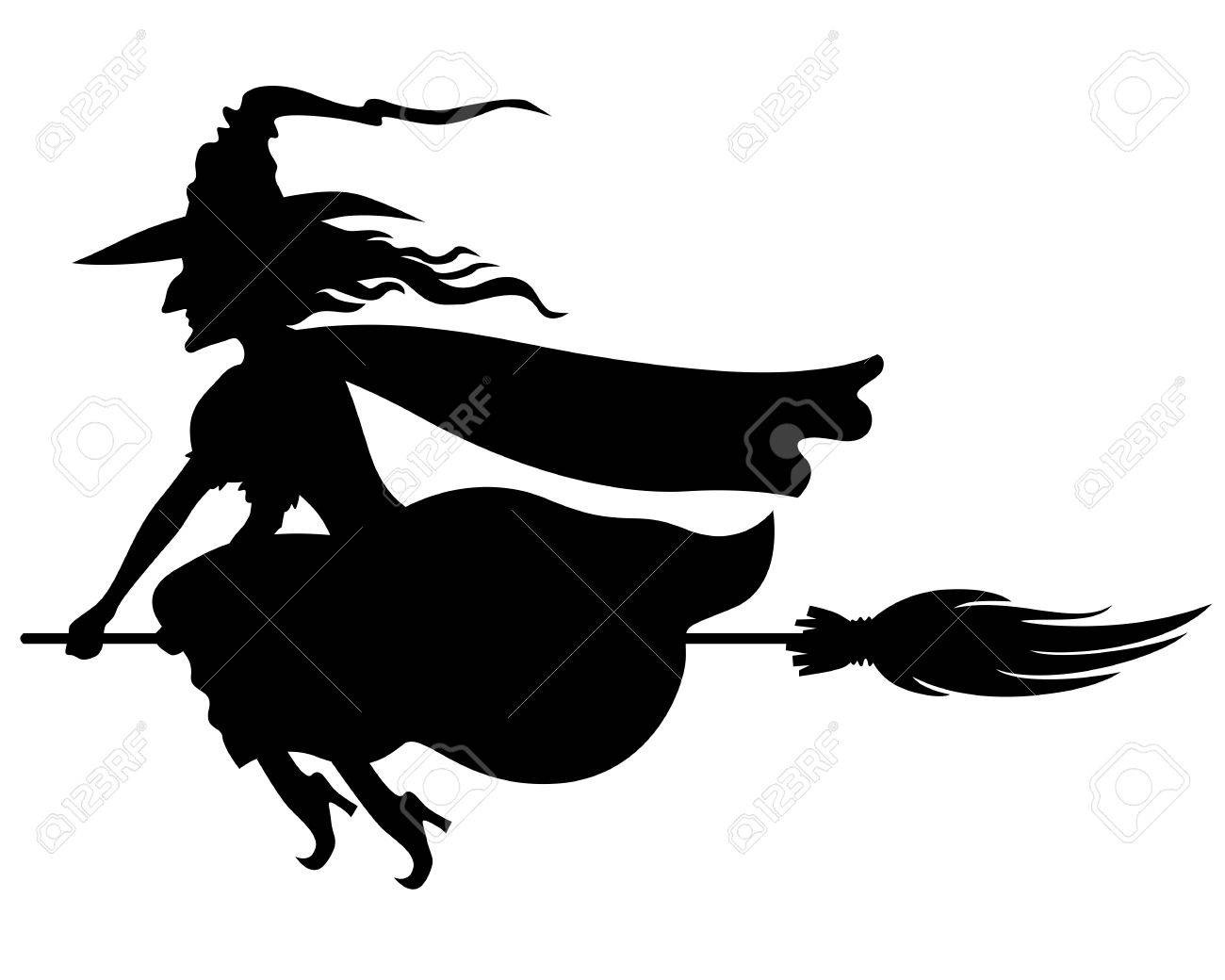 1300x1040 Clipart Witch On Broomstick Silhouette Incredible Thatswhatsup
