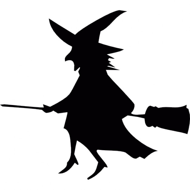 626x626 Flying Halloween Witch On A Broom Icons Free Download