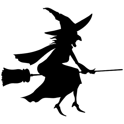 500x500 Flying Nice Witch Halloween Craft Rubber Stamp