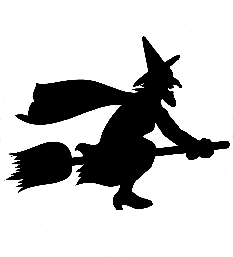 witch on broomstick silhouette at getdrawings com free for