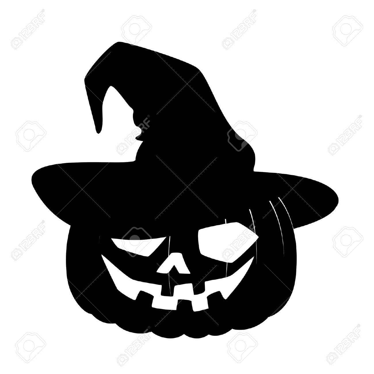 Halloween Pumpkin Vector Art.Witch Profile Silhouette At Getdrawings Com Free For