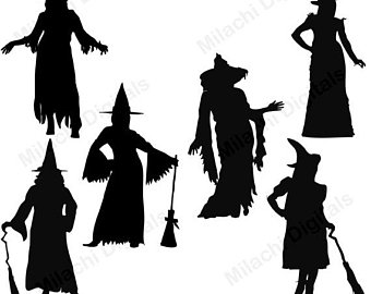 Witch Silhouette Clipart