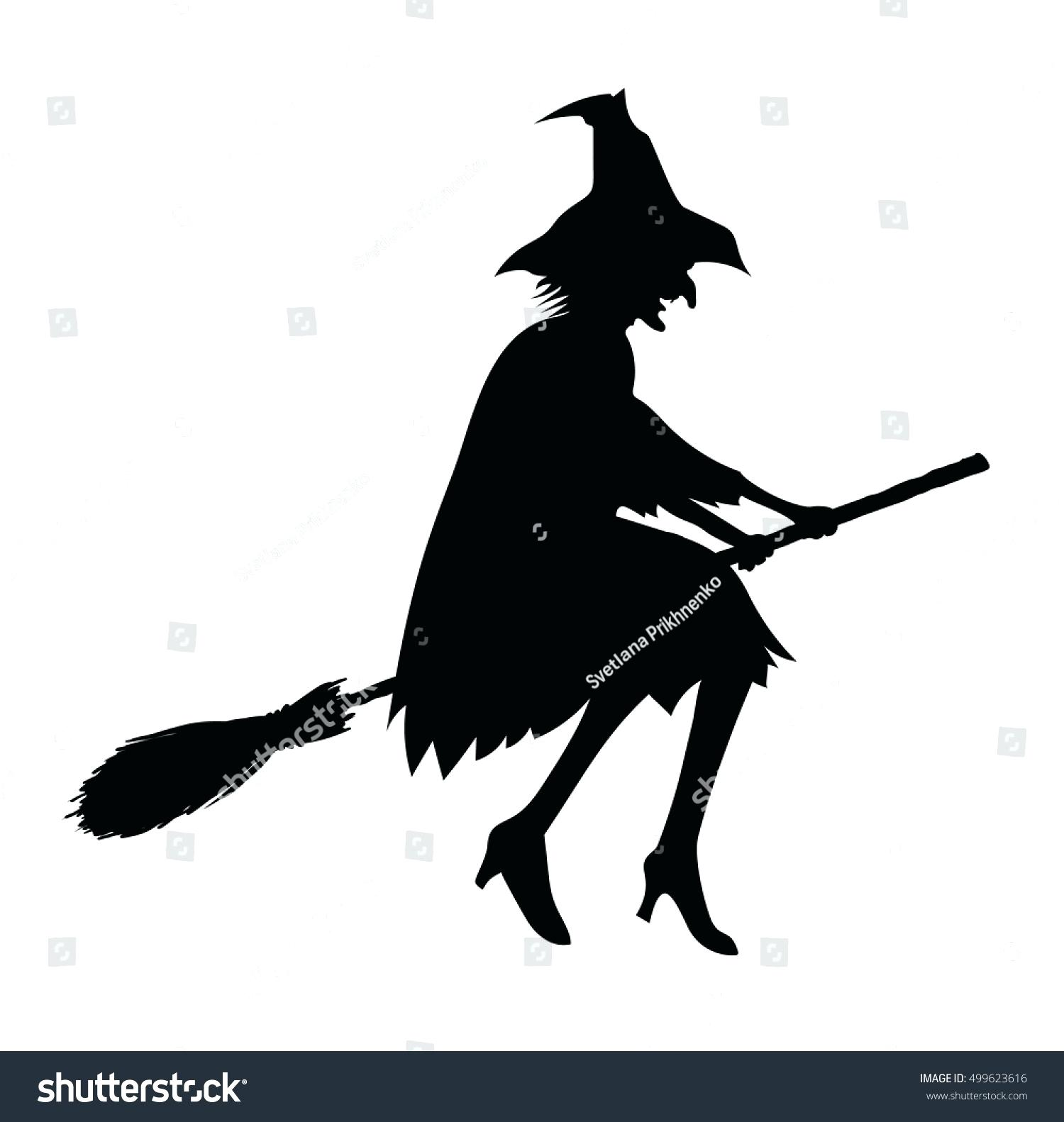 1500x1582 Template Witch On Broomstick Template