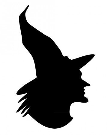 360x450 Spooky Silhouettes Bat Pumpkin Witch Silhouette, Silhouettes