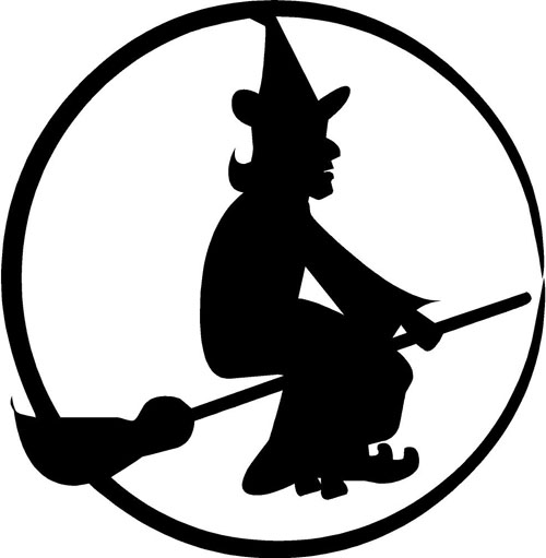 500x511 22 Images Of Silhouette Witch And Moon Template