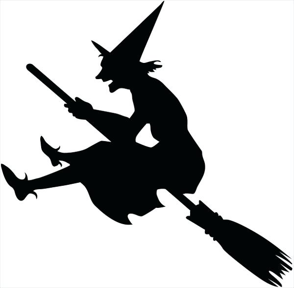 600x586 Witch Silhouette Template Add To Download Comp Halloween Tree