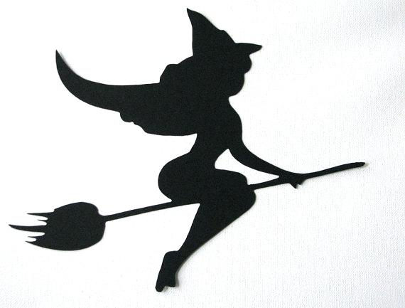 570x433 Witch Silhouette Template Like This Item Halloween Bat Silhouette