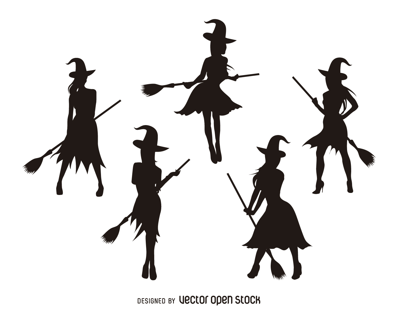 1360x1064 Halloween Silhouettes Vector Graphics To Download