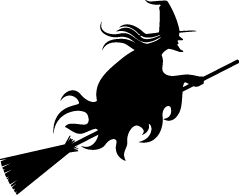 239x195 Witch Silhouettes Silhouettes Of Witch Free
