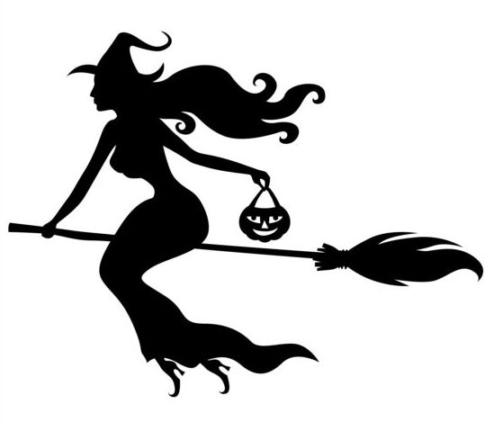 539x479 Witch Fly Silhouette Vector Set 03