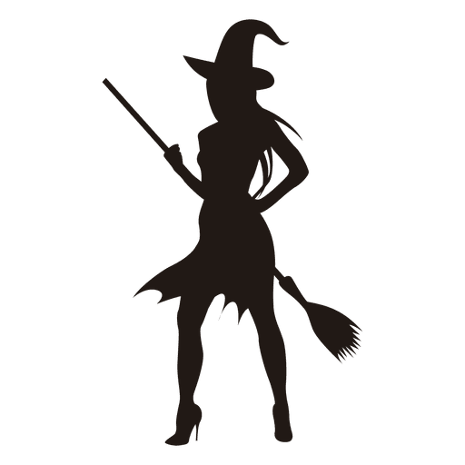 512x512 Young Halloween Witch Silhouette