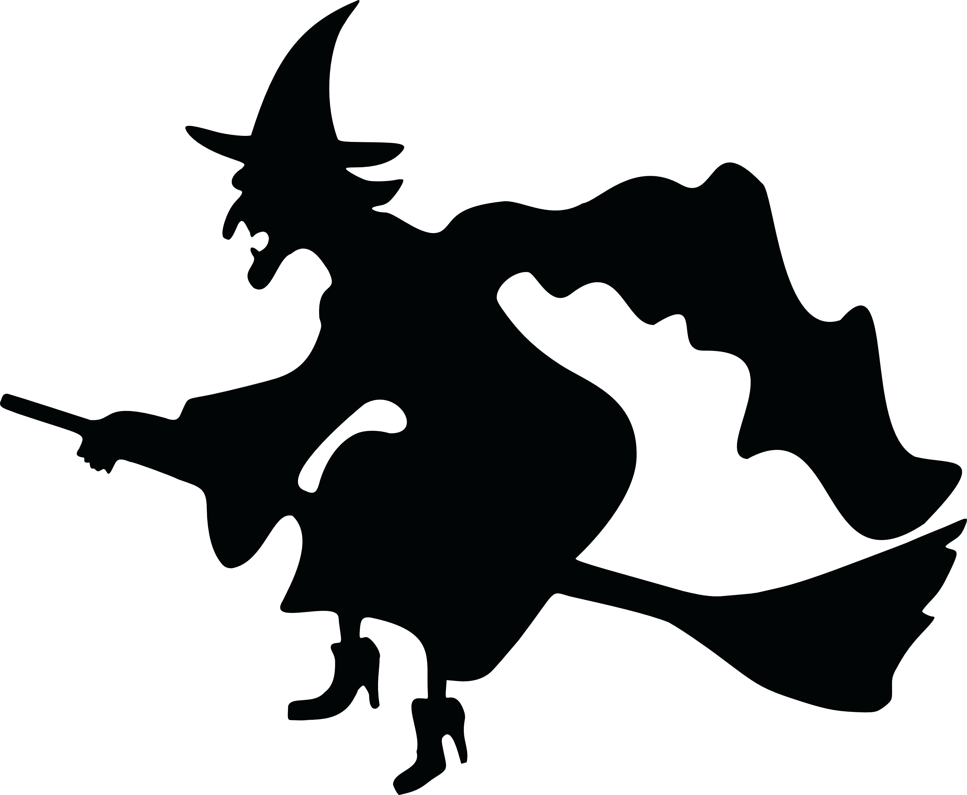 3200x2633 Template Witch Silhouette Template