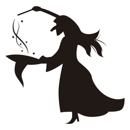 512x512 Halloween Witch Silhouette Hat