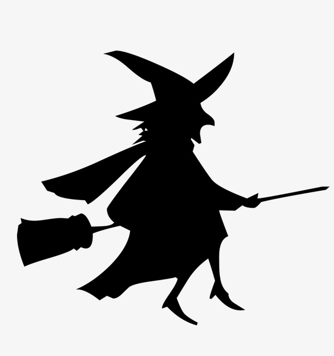 650x694 Witch Silhouette, Creative Christmas, Halloween Witch, Sketch Png