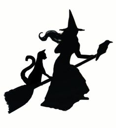 236x260 Witch Silhouette Halloween Witch Silhouette