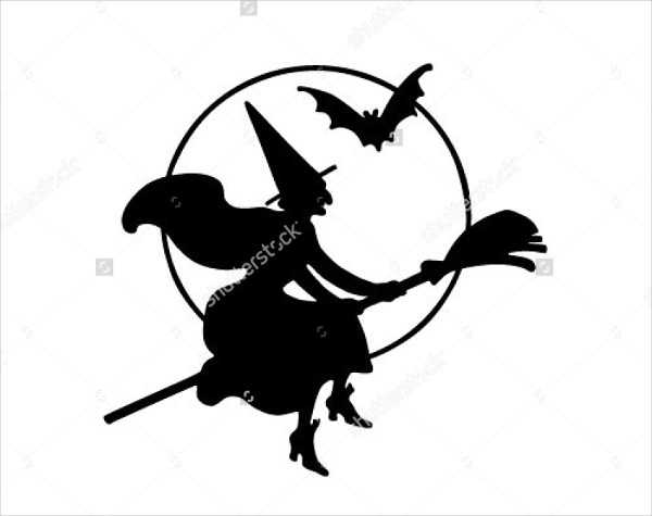 600x475 Witch Silhouette Vectors