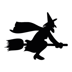 witches broom silhouette at getdrawings com free for personal use