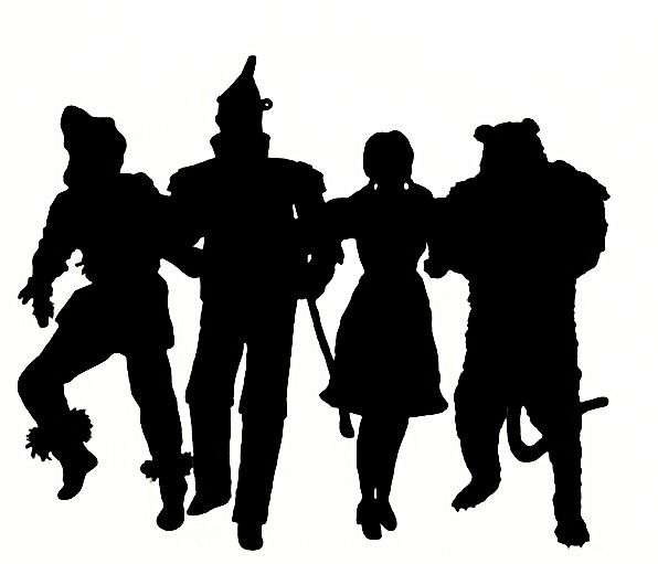 Wizard Of Oz Silhouette Vector