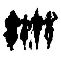 236x236 Wizard Of Oz Character Silhouette Wizard Of Oz Character Crafts