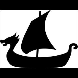 263x262 Viking Ship Silhouette Svg Vikings, Silhouette