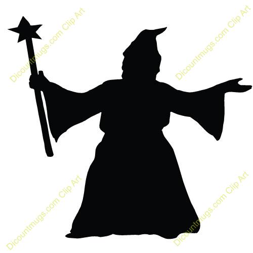 500x500 Wizard Clipart Silhouette