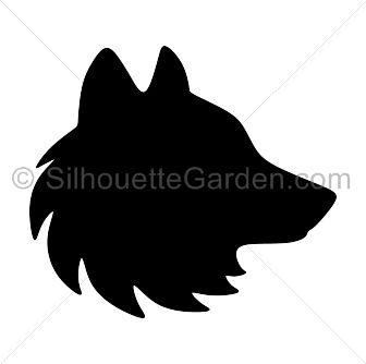 Wolf Face Silhouette