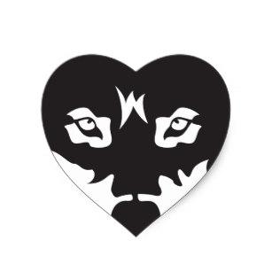 307x307 Wolf Silhouette Stickers Zazzle.co.nz