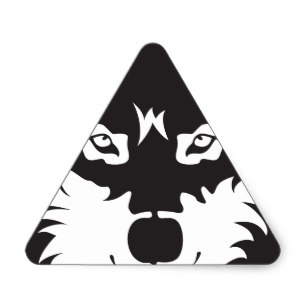 307x307 Wolf Silhouette Stickers amp Labels Zazzle UK