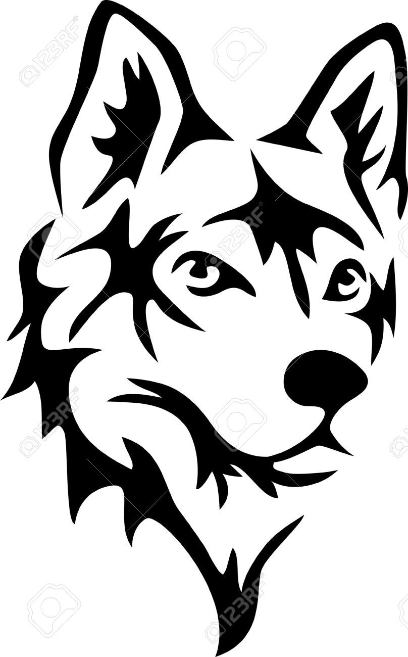 808x1300 Wolf Face Silhouette
