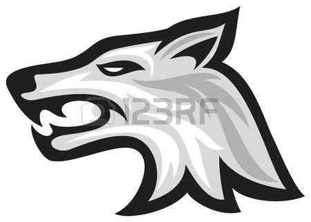 450x322 wolf head Vector illustration of wolf face wolf head scetch