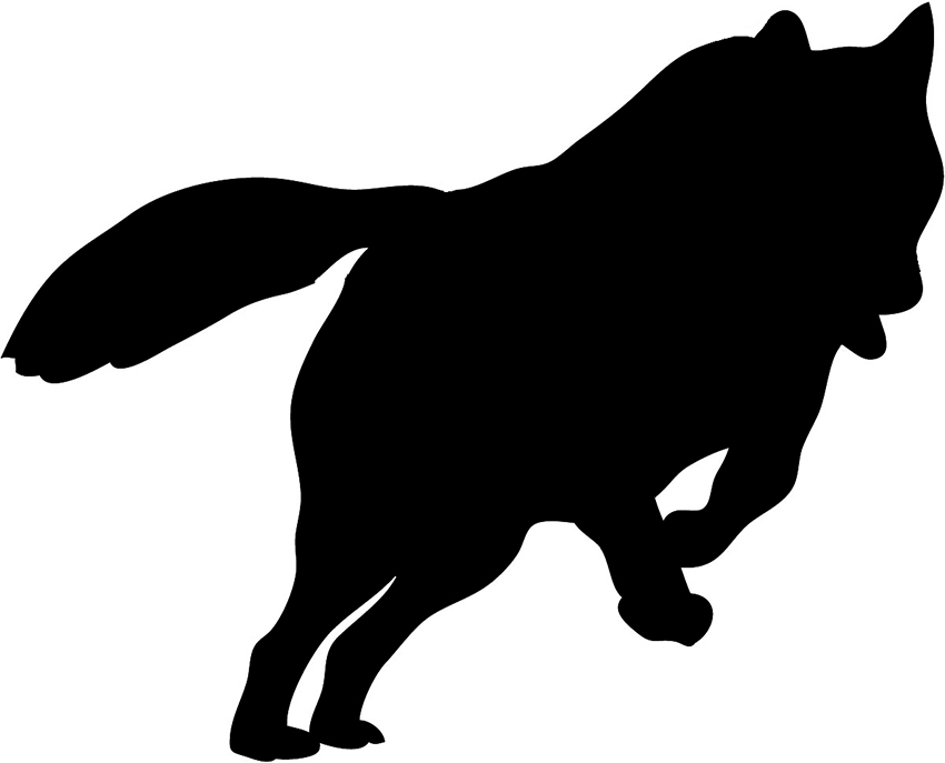 850x687 wolf silhouette clip art silhouette sketch hunting wolf silhouette