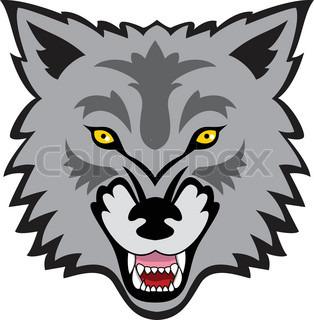 314x320 Artistic Vector Silhouette Wolf. Stylized Idea Wild Animal Tattoo