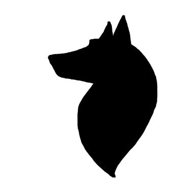 350x350 Image result for wolf head silhouette Stencils Pinterest