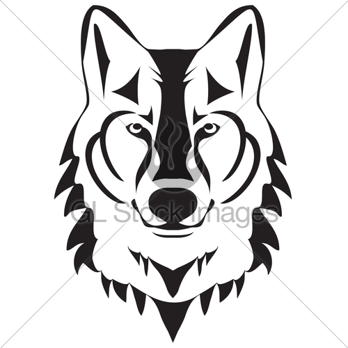 500x500 Vector Wolf Silhouette · GL Stock Images