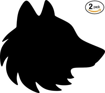 425x379 Angdest Wolf Head Silhouette (Black) Waterproof Vinyl