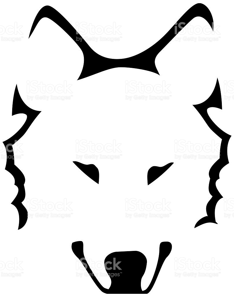 809x1024 Wolf clipart nose