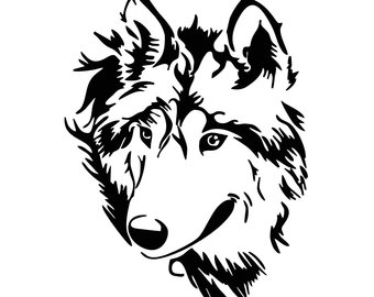 340x270 Wolf Head Svg Etsy