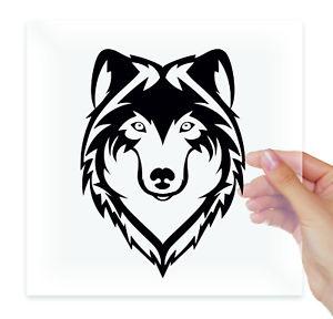 300x288 Wolves Wolf Head Silhouette Vinyl Sticker Decals Car Auto Moto