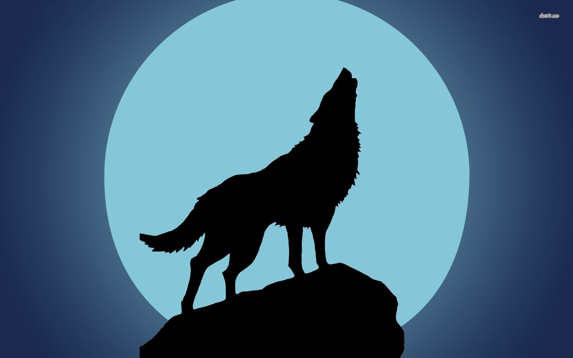 Wolf Howling At Moon Silhouette At Getdrawings