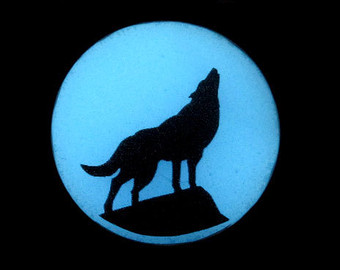 340x270 Howling Wolf Silhouette Moon