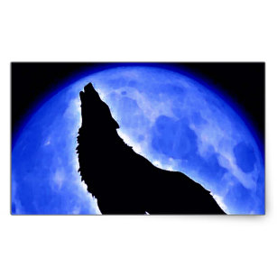 307x307 Howling Wolf Silhouette Stickers Zazzle