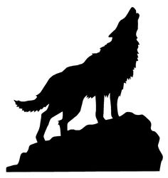 Wolf Howling At Moon Silhouette At Getdrawings Com Free For
